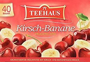 Teehaus Kirsch Banane Früchtetee mit Kirsch Bananen Aroma 90g