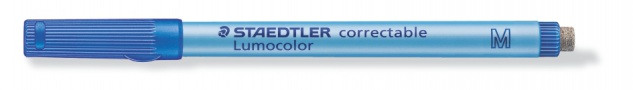 Folienstift Lumocolor correctable M Non-Permanent-Marker blau