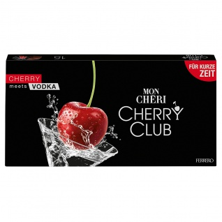 Mon Cheri Cherry Club Vodka Kirschen mit einem Hauch von Vodka 157g