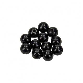 Meyco schweiß und speichelfeste 120 Holzperlen 6mm in schwarz