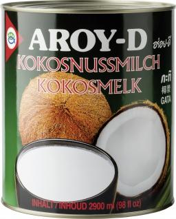 Aroy D Kokosnussmilch Cremig Asia Küche Inhalt eine Dose 2900ml