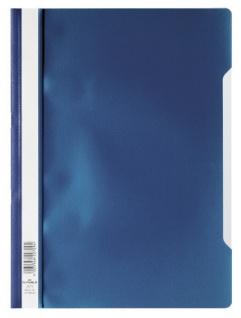 DURABLE Sichthefter mit transparentem Vorderdeckel dunkelblau DIN A4 50 Stück