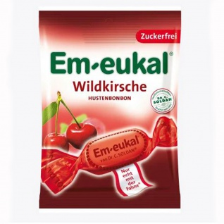 Em eukal Wildkirsche zuckerfreie Hustenbonbons 75g 10er Pack