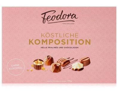 Feodora Köstliche Komposition Helle Pralinen und Schokoladen 375g