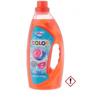 Minel reinigungsstarkes flüssiges Colorwaschmittel aktiv 1500ml
