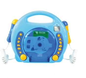 CD-Player MP3 blau Karaoke