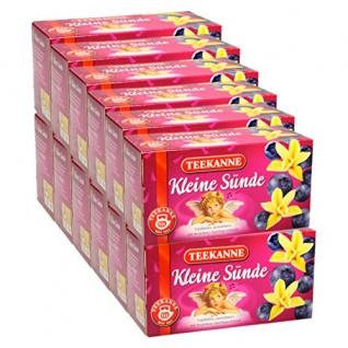 Teekanne Kleine Sünde Früchtetee Heidelbeer Vanille Aroma 12er Pack