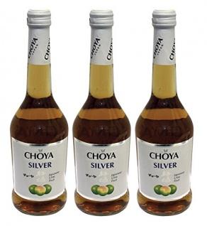 Choya Silver Japanese Plaumenwein Ume Frucht süß 500ml 3er Pack