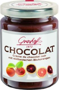 Grashoff Dunkle Schokoladencreme mit sizilianischem Blutorangenöl 250g, 3er Pack