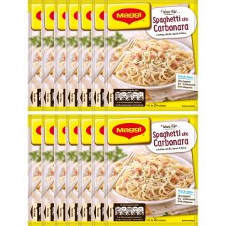 Maggi Fix für Spaghetti Carbonara cremig mit Ei und Käse 34g 14er Pack