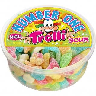 Trolli Fruchtgummi Number One sour Box wiederverschließbar 1000g