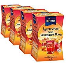 Meßmer Ägyptischer Amun Granatapfel mit Honig Früchtetee 4er Pack