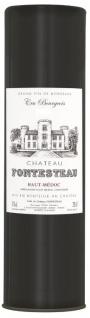 Chateau Fontesteau Haut-Médoc Rotwein im Präsentrohr aus Frankreich 750ml