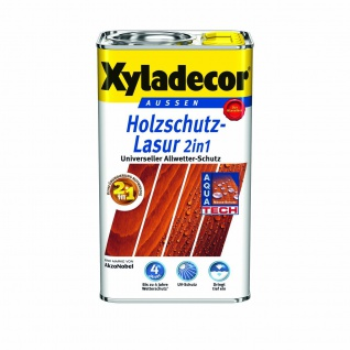 Xyladecor Holzschutzlasur 2in1 für Aussen Farbe : 207 - Mahagoni 2500ml