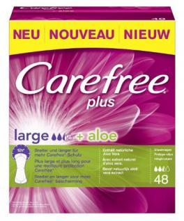 Carefree Slipeinlage plus large + Aloe, 1er Pack (1 x 48 Stück) - Vorschau
