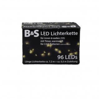 Lichterkette 96 LED mit Timerfunktionfür Innen und Außen warmweiß
