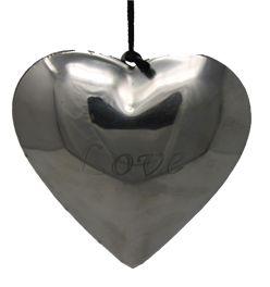 Herz Anhänger Metall Dekorationsherz mit Aufhängevorrichtung LOVE