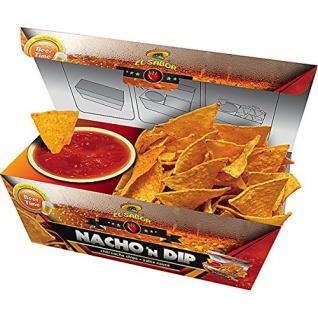El Sabor Nacho n Dip Salsa Chili Nachos mit Salsa Dip servierfertig 175g 6er Pack