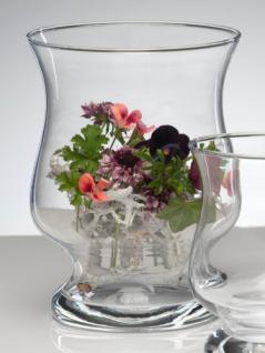 Windlicht HURRICANE Glas Vase Glasvase Kerzenglas 17 cm