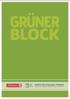 Briefblock DIN A4 Gruen unliniert