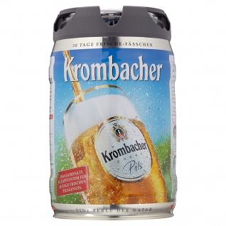 Krombacher Pils Partyfass mit Zapfsystem Frischefässchen 5000ml