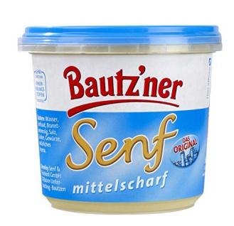 Bautzner Senf mittelscharf der Klassiker im blauen Becher 200ml 20er Pack