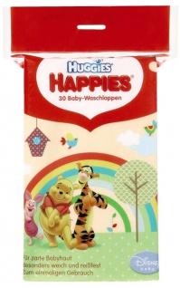 Kleenex Happies Babywaschlappen Für eine zarte Babyhaut 7er Pack