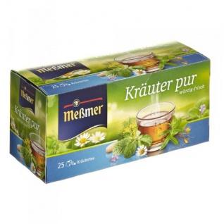 Meßmer Kräutertee Kräuter pur würzig frischer wohltuender Genuss 12er Pack