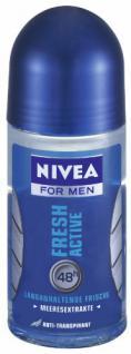 Nivea Deodorant Roll-On Fresh Active für Männer 50 ml, 3er Pack (3 x 50 ml)