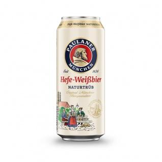Paulaner Hefe Weißbier Naturtrüb Münchner Bierspezialität 500ml Dose