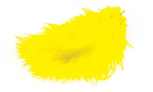 Marabufedern gelb 10/12 cm