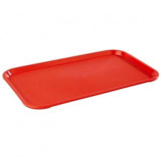 Assheuer und Pott robustes Fast Food Tablett rot aus Polypropylen