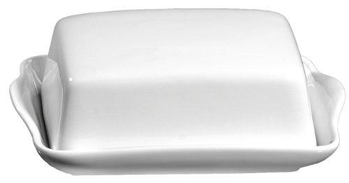 Ritzenhoff & Breker 019490 Butterdose Bianco aus Porzellan, weiß