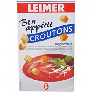 Leimer Croutons ungewürzt für Suppen Salate und zum Knabbern 100g