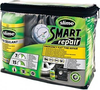 slime 10914 Reparaturset für PKW- Reifen inkl. Kompressor