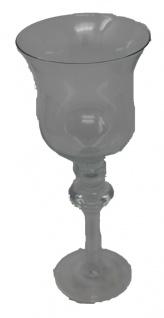 Windlicht Teelichthalter aus Glas mit Stiel glatter Oberfläche klein