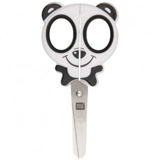 Rico Design Kindermotivschere Pandabär in schwarz und weiß 13cm