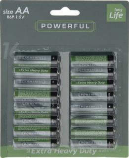 Koopmann Batterie AA LR6 1.5 Volt Alkaline 16 Stück pro Packung