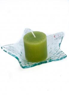 Kerzenhalterschale Weihnachtskerzenschale Form Stern aus Glas
