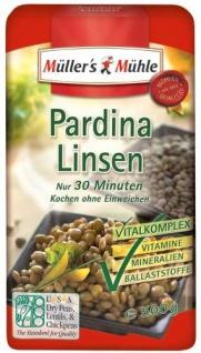 Müller's Mühle Pardina Linsen, 7er Pack (7 x 500 g Beutel)