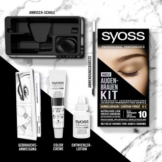 SYOSS Augenbrauen-Kit 4-1 Dunkelbraun 17ml