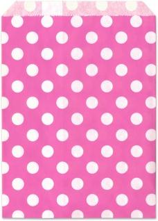 Geschenktuete pink Punkte 25 Stueck