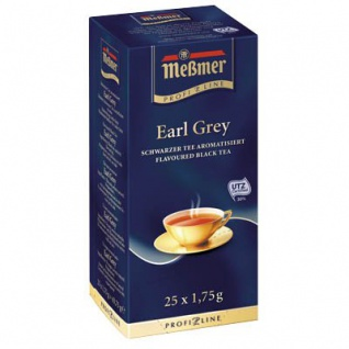 Meßmer ProfiLine Earl Grey Schwarzer Tee aromatisiert 25 Teebeutel