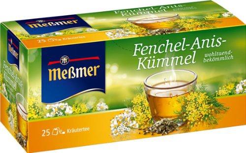 Meßmer Teegetränk Fenchel Anis und Kümmel Kräutertee 50g 4er Pack