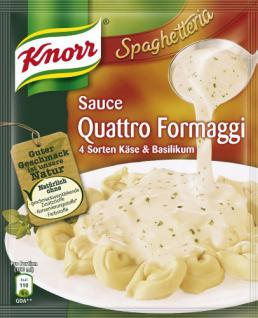 Knorr Spaghetteria Sauce Quattro Formaggi 4 Sorten Käse und Basilikum, 10er Pack (10 x 250 ml)