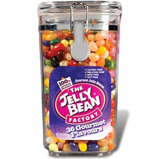 The Jelly Bean Factory 36 Gourmet Flavours Einmach Glas 700g