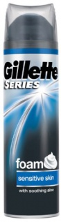 Gillette Series Sensitive Rasierschaum, 250 ml