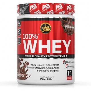 All Stars Whey Protein und Whey Konzentrat Isolat Chocolate 450g
