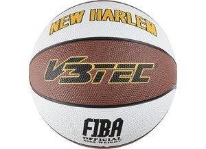 Basketball von V3Tec NEW HARLEM Größe sechs Farbe braun weiss