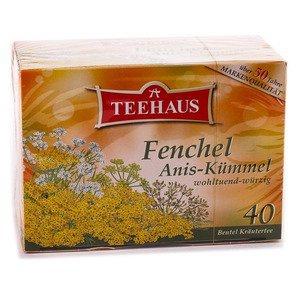 Teehaus Fenchel Anis Kümmel würzige Kräuterteemischung Teebeutel